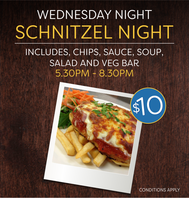 Schnitzel Night at the Crown Hotel
