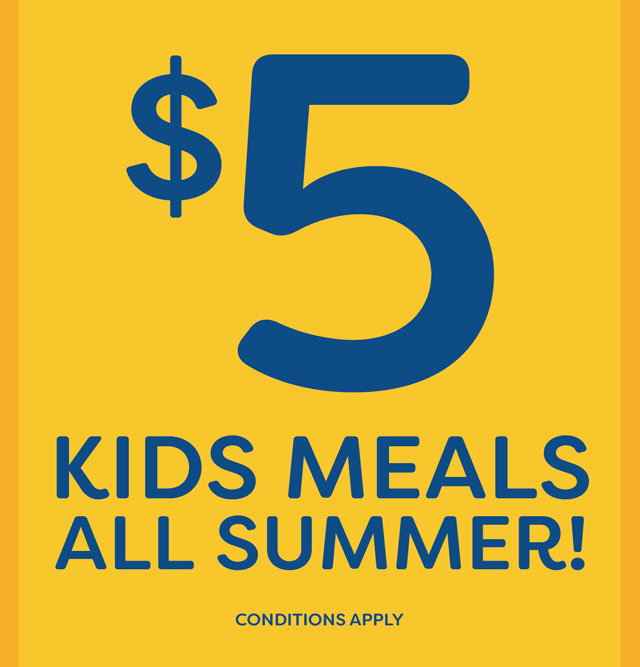 $5 Kids Meals all summer long at the Hotel Crown Victor Harbor