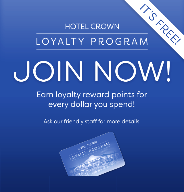 Join the Hotel Crown Victor Harbor Loyalty Program